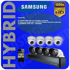 COMMERCIAL / BUSINESS / HOME CCTV SYSTEM- SAMSUNG - HYBRID - 8 CAMERAS PACKAGE