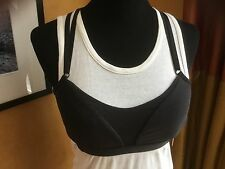 NWT Lululemon Interval Bra Size 4 in Silver/Black W2B18S NWT