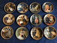 Norman Rockwell's Rediscovered Women Complete Collectors Plates of 12 Nib w/Coa