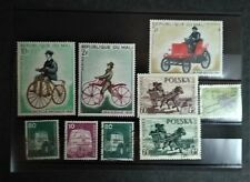 Lot de 9 timbres sur les Transports