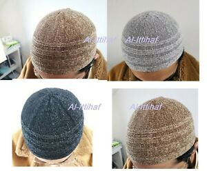New Turkish Soft  Islamic Velvet  Prayer Hat Mens Skull Cap Topi Kufi  Muslims