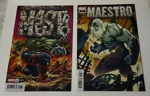 MAESTRO #1 The Origin Of Maestro! - Far furture HULK ~ 2 NM VARIANT Covers 2020