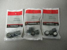 """3 Packages of 4 Radio Shack 1"""" Molded Hexagonal Knobs - fit 1/4"""" Shafts 12 Knobs"""
