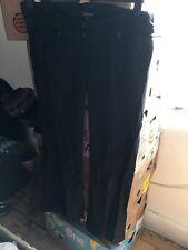 Red Herring Size 12 Maternity Black Linen Blend Trousers (A11)