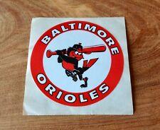 VINTAGE BALTIMORE ORIOLES STICKER MLB BIRD WITH BAT