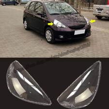 Fit For Honda Fit Jazz 2003-2007 Headlight Lens Headlamp Cover Trim 2pcs