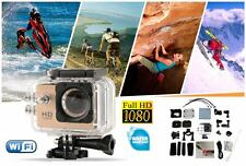 CAMARA ACCION FULL HD 1080P DEPORTE EXTREMO ACUATICA IMPERMEABLE - PLATEADO