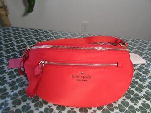 NWT Kate Spade Nylon Chelsea Belt Bag Black, Red, Multi