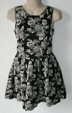 S.O.R.A.D. Black Floral Sleeveless Dress Size S Juniors
