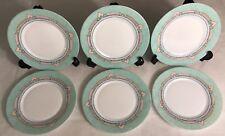 Lot23 De 6 Petites Assiettes Plates Vintage Mint Arcopal France Esso D 19,5 Cm