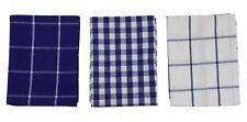 6x cuadros vichy azul blanco 100% algodón paños de cocina