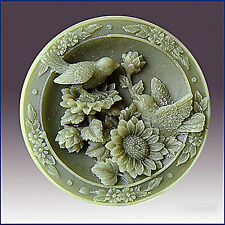 Garden Loving Birds on Sunflowers - Silicone soap/plaster/polymer clay mold