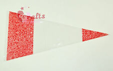 """25 Quality """"Red"""" Cone Cellophane Sweet 