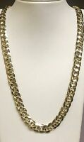 """10kt solid Yellow gold handmade Curb Link mens Necklace 30"""" 100 Grms 10 MM"""
