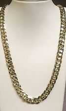 10kt solid Yellow gold HEAVY handmade Curb Link mens Necklace 28 93 Grms 10 MM