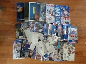 47  DIFFERENT  NEW YORK RANGERS  YEARBOOKS, MEDIA  & TRAINING GUIDES  1977-2008