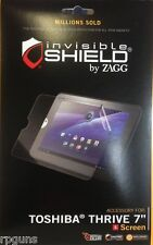 """NEW ZAGG INVISIBLE for Toshiba Thrive 7"""" inch  Screen Protector FREE SHIP IE 501"""