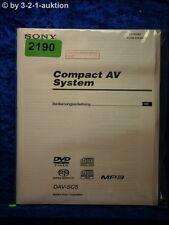 Sony Bedienungsanleitung DAV SC5 Compact AV System  (#2190)