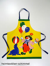 Kinder Schürze Kochschürze Schulschürze Küchenschürze CLOWN Zirkus Backschürze