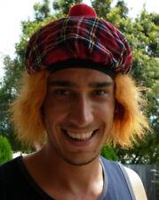 """Scottish Tam O'Shanter Cap, """"See You Jimmy"""" Red Tartan Cap with Orange Hair."""