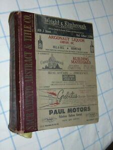 ORIGINAL 1953 SACRAMENTO CA CITY 1500-PAGE BUSINESS DIRECTORY