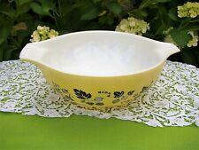 Large Yellow/Black Gooseberry Pyrex 4 Qt Mixing Bowl Batter Nesting 444 Rare