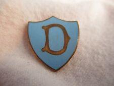 Vintage Enamel Shield Pin Initial Letter Badge - D
