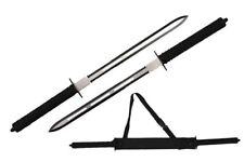 "26"" Full Tang Two Tone Blade Japanese Ninja Twin Sword Set with Sheath NIB"