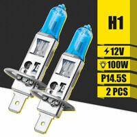 2x H1 12V 100W Xenon White 6000k Head Light Lamp Globes Bulbs Halogen Fog Car