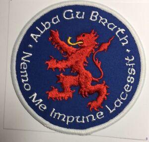 Scottish Lion  Rampant Patch  , Alba Gu Brath Nemo Me Impune Lacessit , Biker