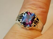 5.16+ CT MAN  S RING.RUSSIAN  LAB  ALEXANDRITE 100% COLOR CHANGE