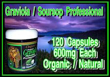 Cleopatras Natural Organic Graviola Professional Extract Capsules 120 1200mg Ser