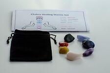 Chakra Healing Crystal Gemstone Set 7 Large Tumblestones Tumbled Stones Gift Set