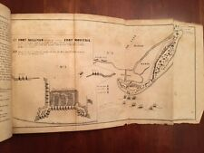 RARE 1851 American Revolution S. Carolina Charleston MAPS Fort Moultrie Sullivan