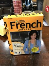 Learn How To Speak French With Instant Immersion Levels 1-3 DAMAGED Retail Box