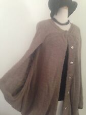 MAX AZRIA RUNWAY BCBG Taupe Summer Cover Cocoon Poncho S OS