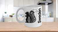 Sweden Mug Squirrel Coffee Cup Gift for Swedish Scandinavia Lapland Stockholm