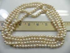 72in Peach Pearl Necklace cultured Fresh Water Pearls  N9400