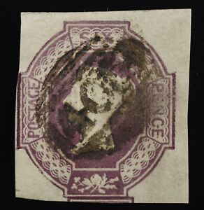 Sc7d/SG61wi 6d embossed.Inverted wmk. Minor fault.Well above average example