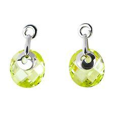 Pendientes de bisutería color principal verde cristal
