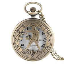 Collier pendentif montre de poche douze Constellations Balance astrologie Femmes Hommes