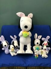 Hallmark Snoopy Plush Easter Bunny Lot. Tallest 21 inches.