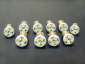 10 Lincoln BRIGHT White 6V LED Instrument Panel 55 BA9S 316 Light Bulbs 47 (146)