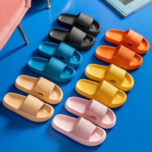 Women Men Thick Platform Slippers Beach Eva Soft Sole Slide Sandals Anti-slip