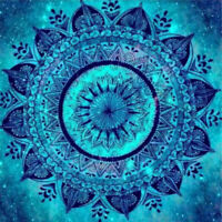 Full Drill 5D Cyan Mandala Diamond Painting Embroidery Cross Stitch Gift Decor