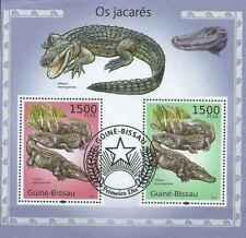 Timbres Reptiles Crocodiles Guinée Bissau BF531 o de 2010 lot 23395 - cote: 16 €