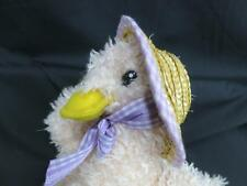 VINTAGE MTY INTERNATIONAL COMPANY STRAW HAT PINK EASTER Duck Chick  PLUSH TOY