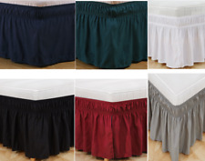 11 Color 4 Sizes Elastic Bed Skirt Dust Ruffle Easy Fit Twin Full Queen King New