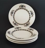 Virginia by Syracuse China Side Plate Old Ivory Blue Green Floral Set of Four