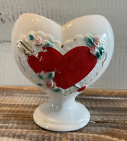 "Vintage RB Valentine Heart Shaped Planter Vase Made in Japan 5"" Tall"